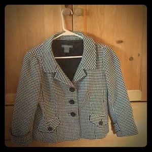 Ann Taylor houndstooth jacket